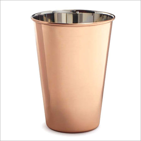 Copper Tumbler Nickel Inside