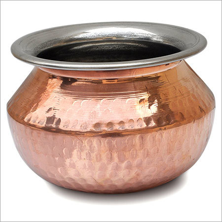 Copper Steel Handi Pot
