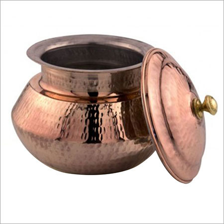 Copper Handi with Lid
