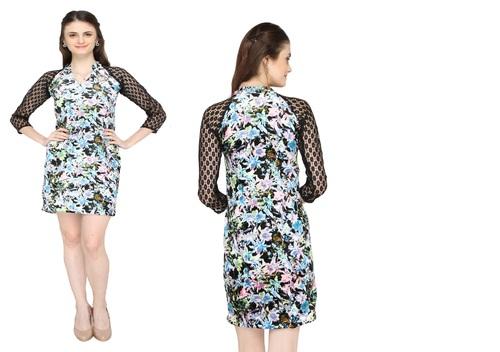 Bedazzle Women's Bandage Multicolor Dress