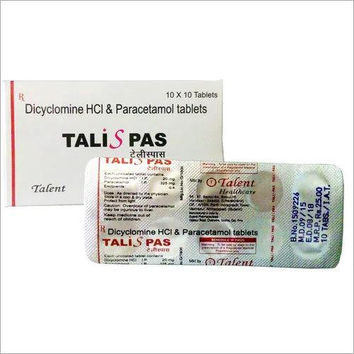 Dicylomine 20 mg + Paracetamol 325 mg