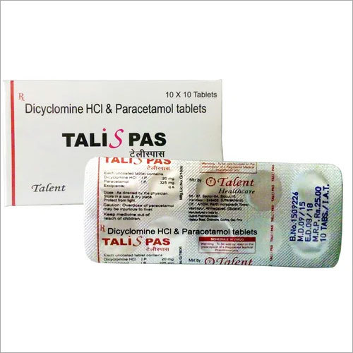 Dicylomine HCL and Paracetamol Tablets