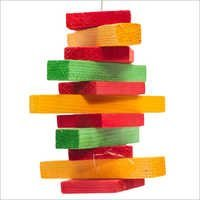Pine Block Hanging Bird Toys