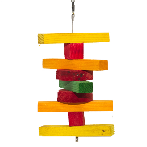 Coloured Stacked Hanging Bird Toys