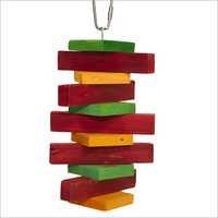 Pine Block String Hanging Bird Toys