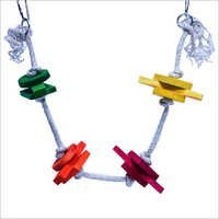 Happy Swing With Colored Block Birds Toy