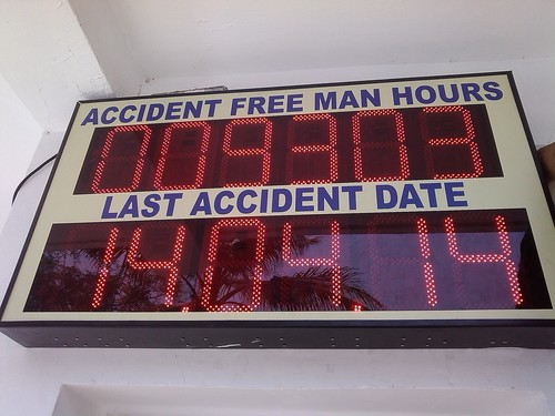 Accident Free Man Hours Display Board