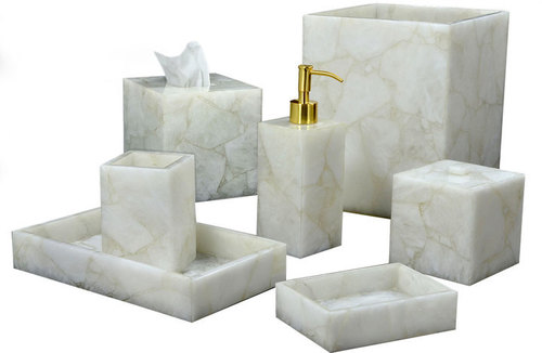 White Quartz Bath Accessories
