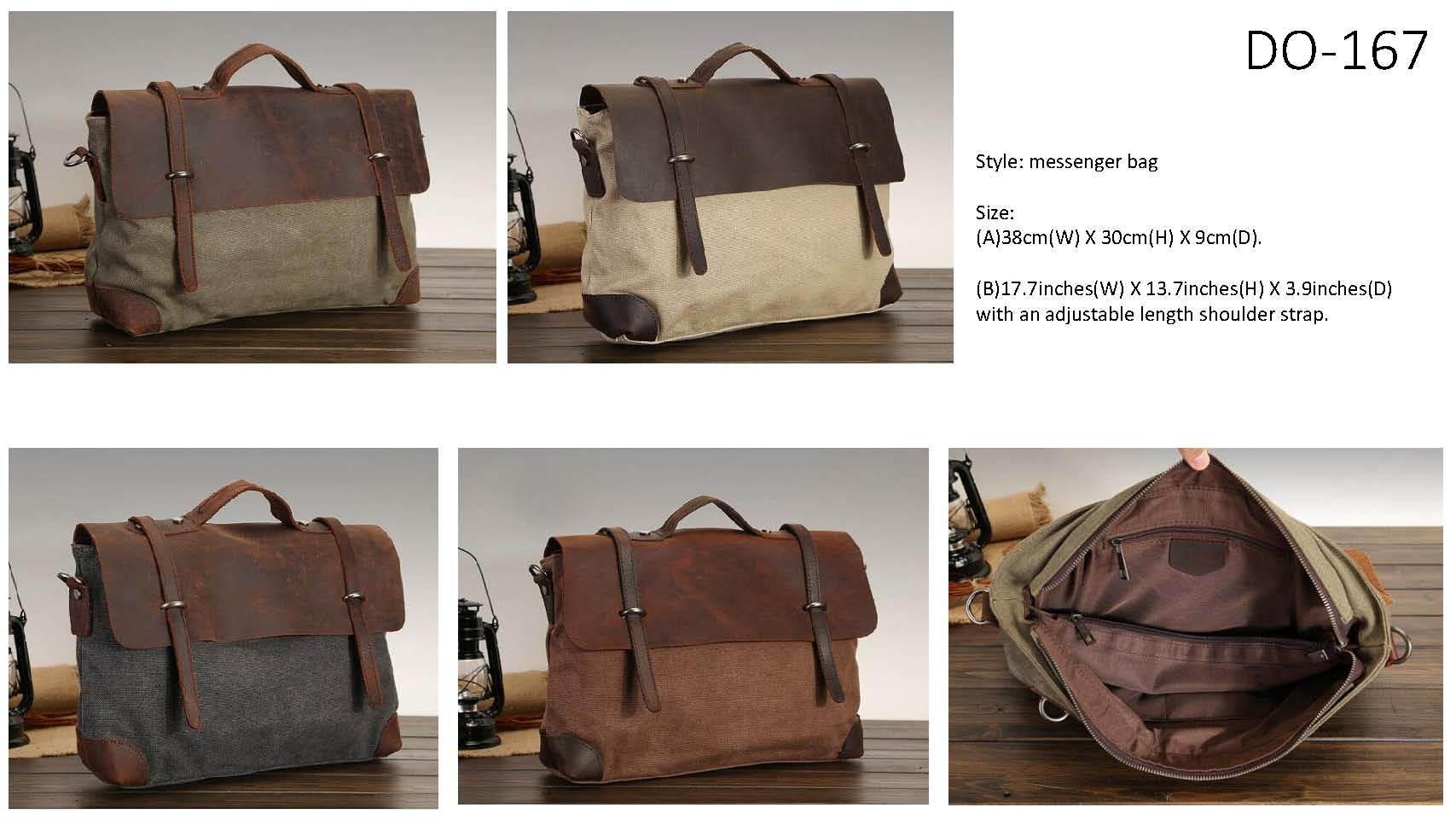Canvas Leather Bag