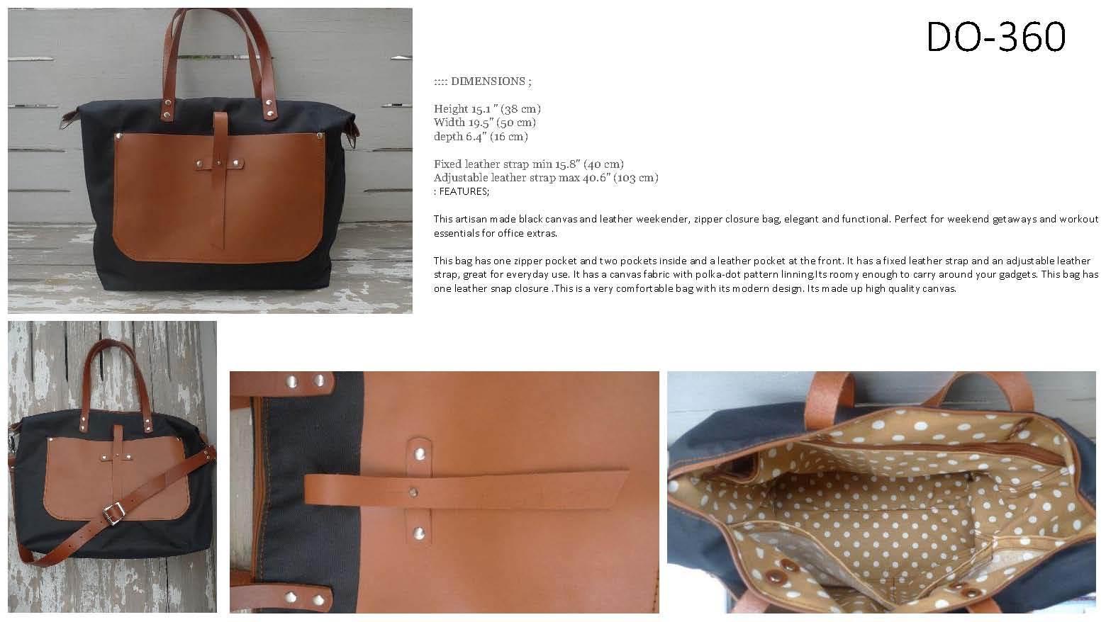 Fashion Canvas Leather Bag