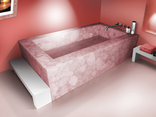 Rose Quartz Bath Tub