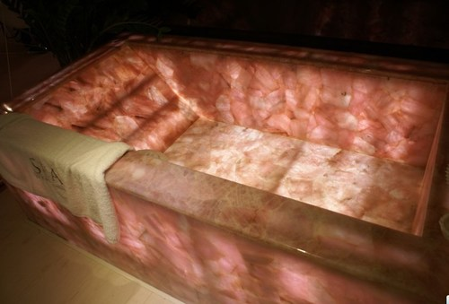 Rose Quartz Bath Tub Backlit