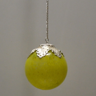 Green Glass Colour Hanging Balls