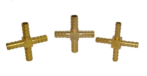 Brass Cross Joint Nipple