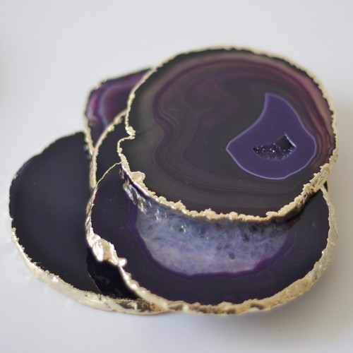 Purple Agate Coaster