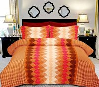 Printed Cotton Satin Bed sheets