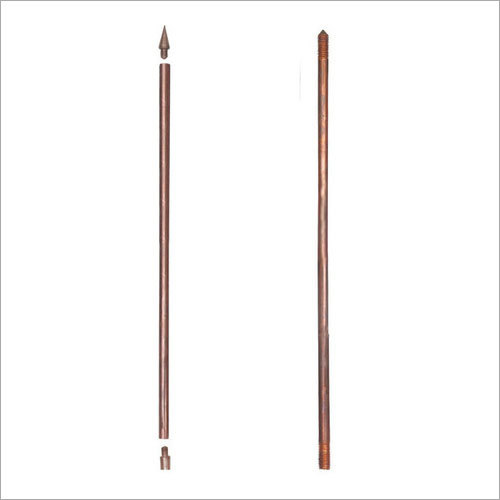COPPER EARTH RODS WITH THREADED