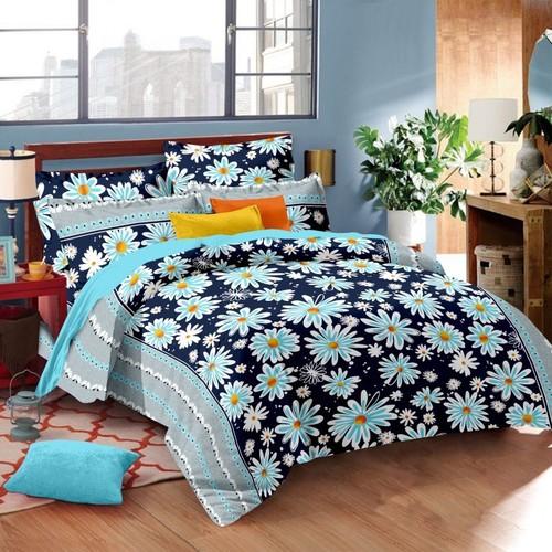 Satin stripes colour bed sheets