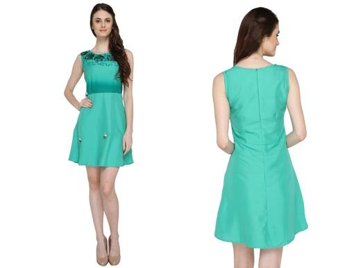 Bedazzle Women's A-line Green Dress