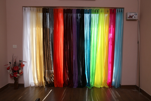 Faux Silk Semi Sheer Curtains
