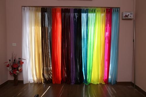 Faux Silk Semi Sheer Curtains