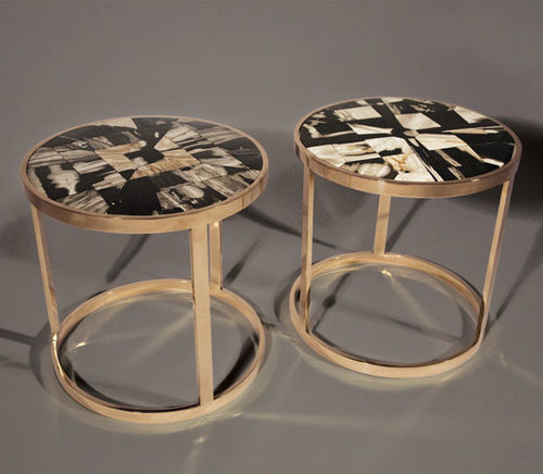 Side Table Contemporary Wood Reclaimed Material