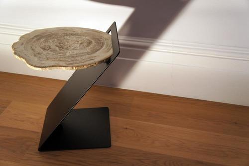 Petrified Wood Side End Table
