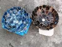 Blue Agate and Black Agate