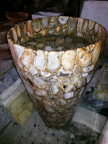 Golden Agate Padestral Sink