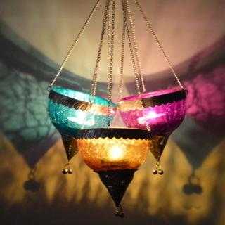 Coloured Glass Hanging Light