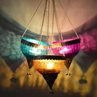 Coloured Glass Hanging Light