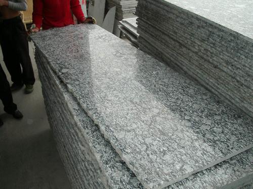 Spray White Granite Slab