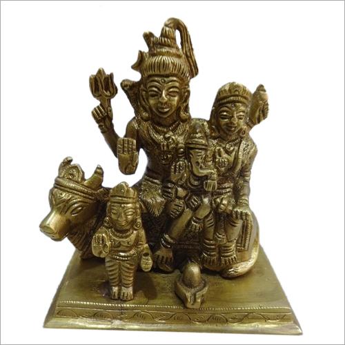 Shiv Parivar Brass Statue