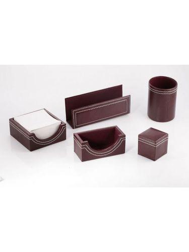 6 in 1 Leather Desktop Organizer