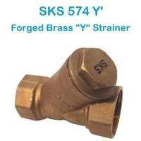 SKS 574 Y Forged Brass Y Strainer