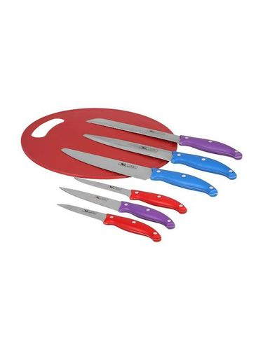7 Pcs Kitchen Knife Set With Chopping Board