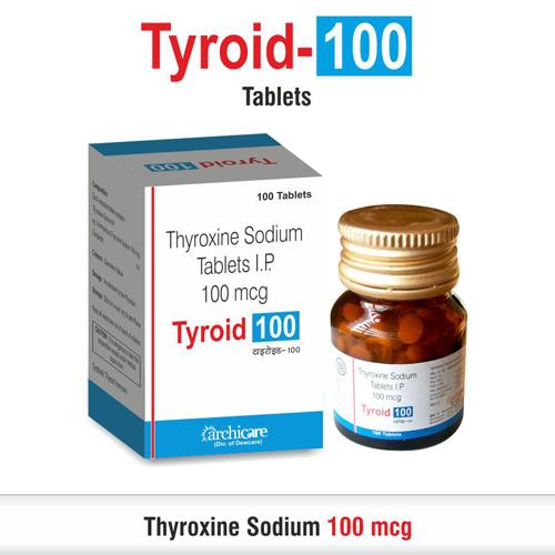 Thyroxine 100 Mcg Thyroxine 100 Mcg Exporter Manufacturer