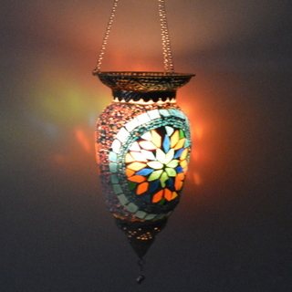 Glass Candle Hanging