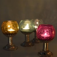 Glass Hanging Candle Lamp