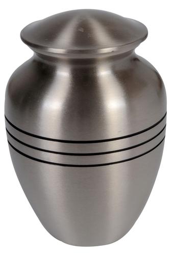 Ribs Pewter Brass Urn