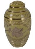 Yellow Flower Brass Urn