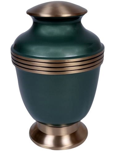 Greeny Ribs Brass Urn