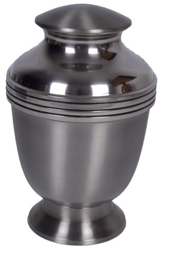 Steel Matt Brass Urn