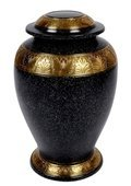 Black Patina Gold Brass Urn