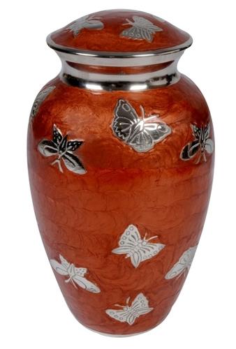 Multi Butterfly Copperish Brass Urn