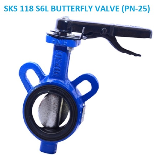 SKS 118 S6L BUTTERFLY VALVE (PN-25) LEVER TYPE