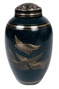 Flying Bird Brass Urn