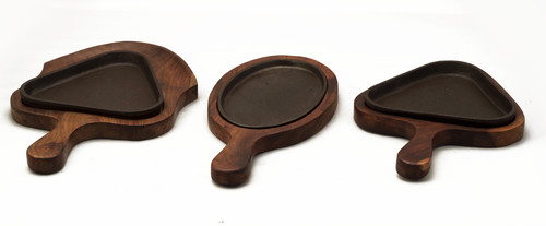 Wooden Sizzlers Iron Plate