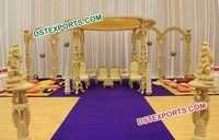 Classical Wedding Wooden Mandap
