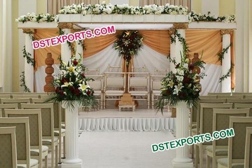 Wedding Roman Pillar Fiber Mandap